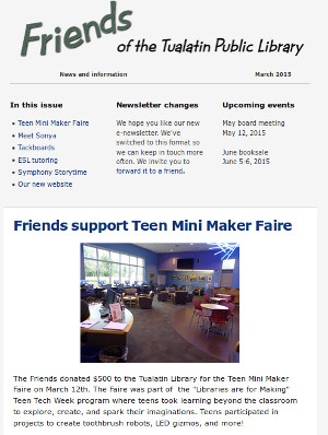 Friends March e-Newsletter